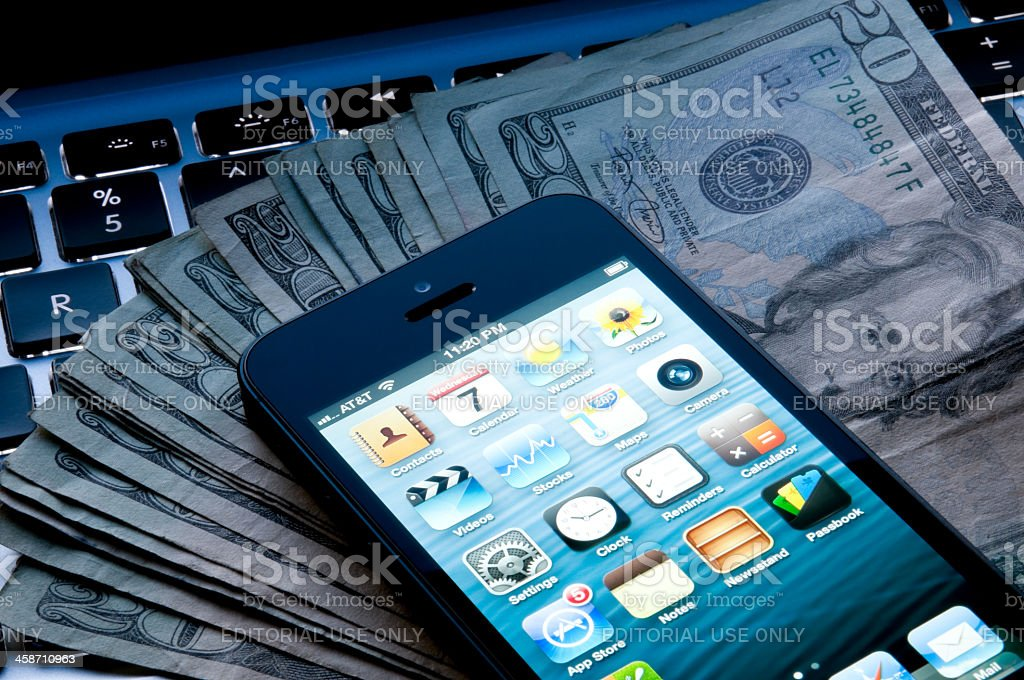 The latest Apple Iphone 5 royalty-free stock photo