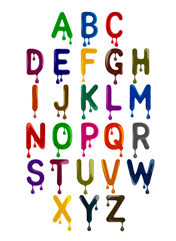 The Latin Alphabet Is Made Up Of Colorful Letters With ...
