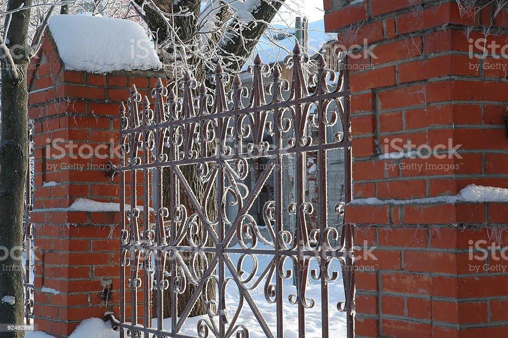 The lattice in rime. royalty-free stock photo