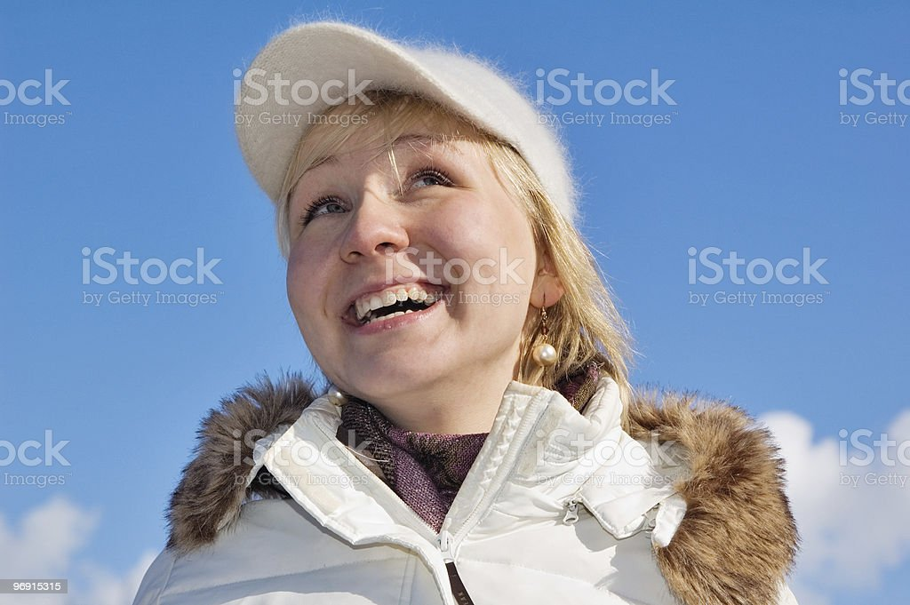 The laughing girl royalty-free stock photo