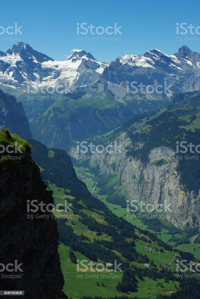 The Lauterbrunnen Valley Switzerland Deepest Ushaped Glacial