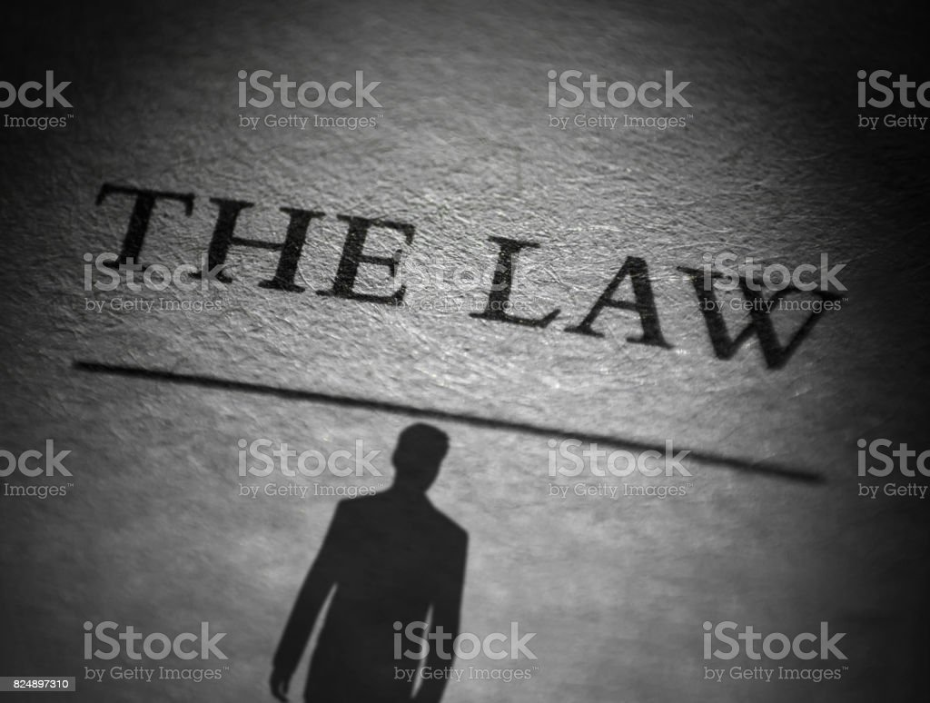 The Law and The Man stock photo