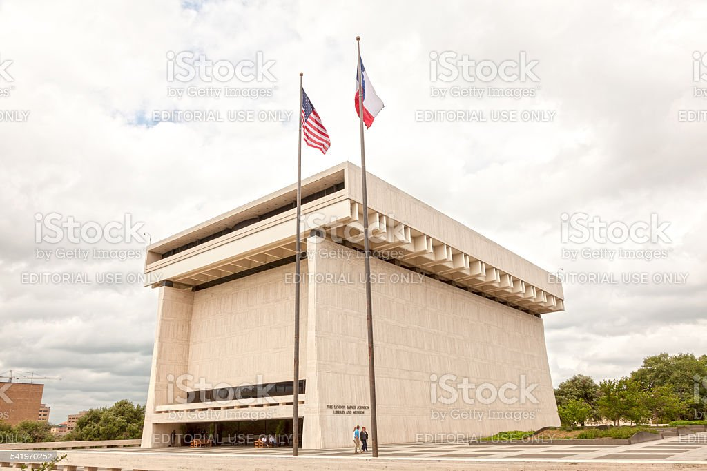 The LBJ Library and Museum in Austin stock photo