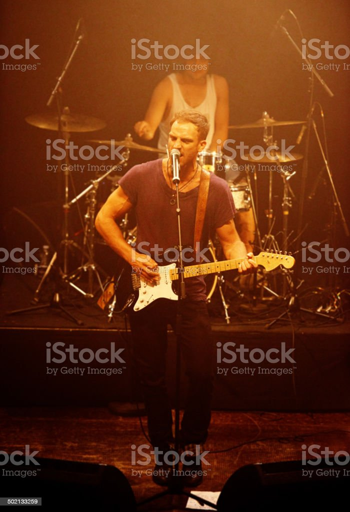 Strumming like there's no tomorrow royalty-free stock photo