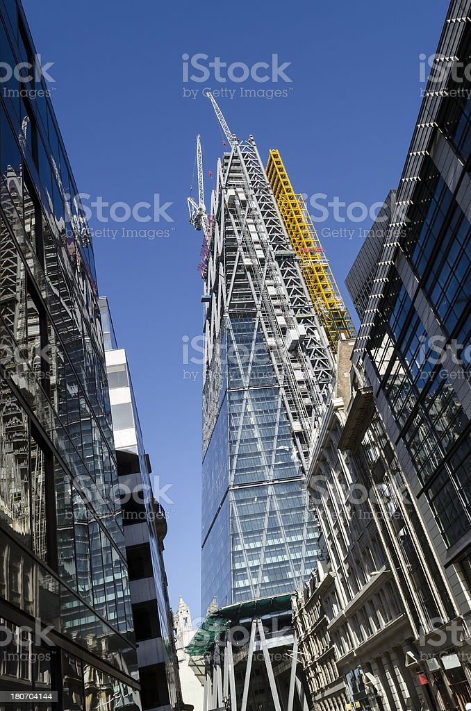 The Leadenhall Building under construction City of London royalty-free stock photo