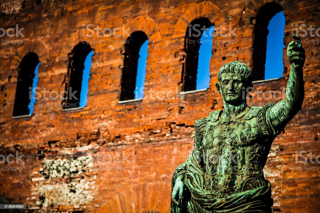 The leader: Cesare Augustus - Emperor stock photo