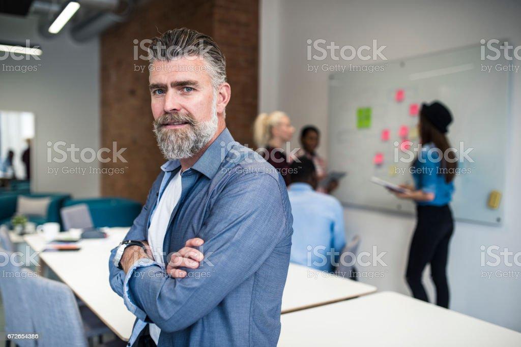 Der Leiter des Projekts - Lizenzfrei Arbeiten Stock-Foto