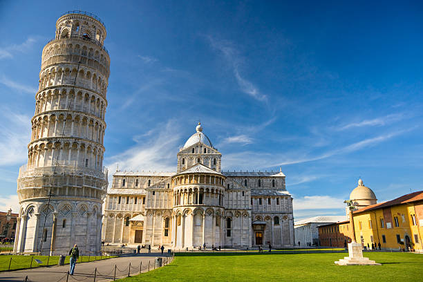 The Leaning Tower of Pisa. stock photo