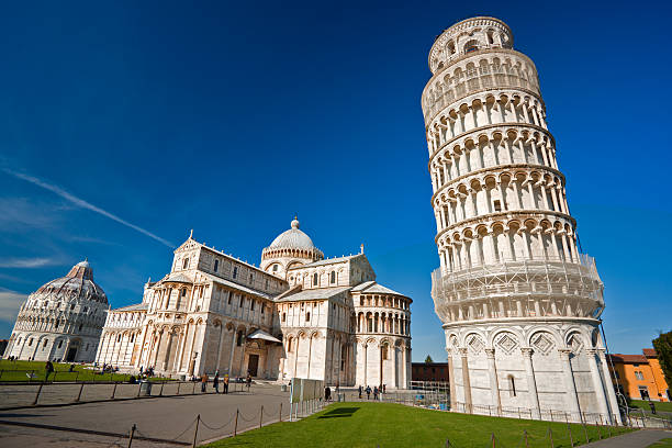 The Leaning Tower of Pisa. Tuscany, Italy. The Leaning Tower of Pisa and the basilica in campo dei miracoli,Tuscany, Italy. pisa stock pictures, royalty-free photos & images