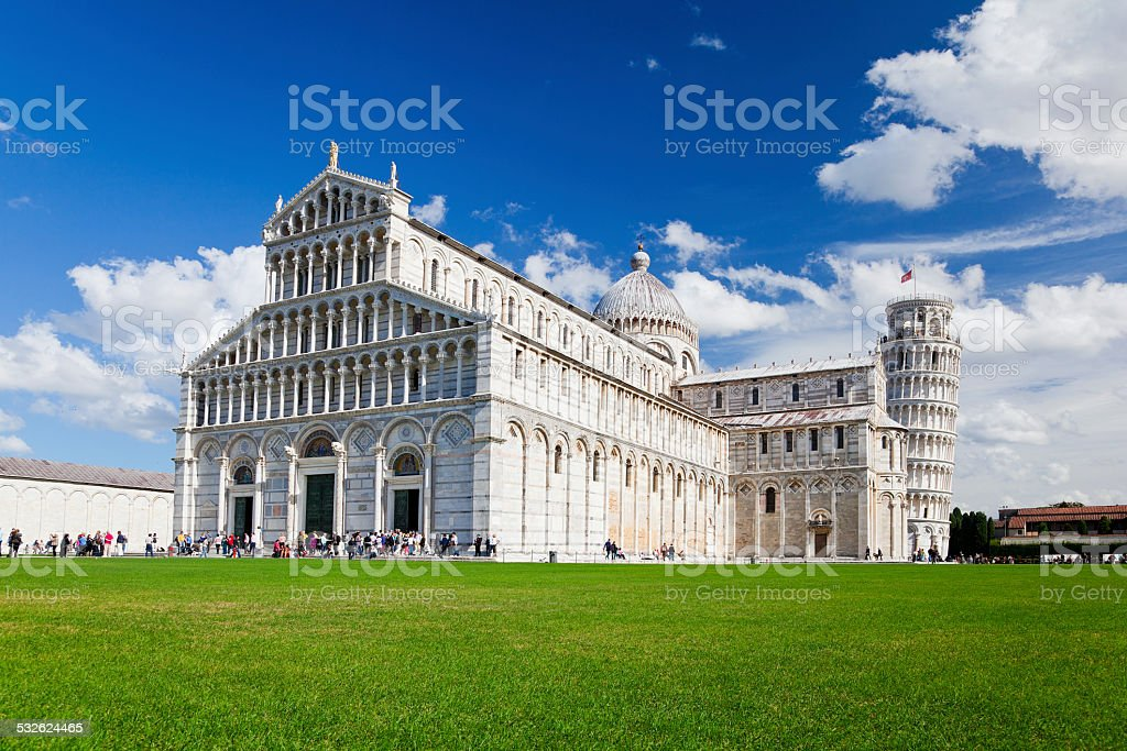 The Leaning Tower of Pisa. Tuscany, Italy. stock photo