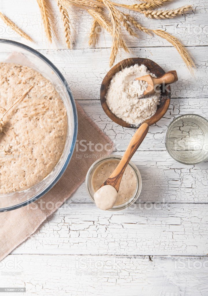 The Leaven For Bread Is Active Starter Sourdough The Concept Of A Healthy Diet Stock Photo Download Image Now Istock