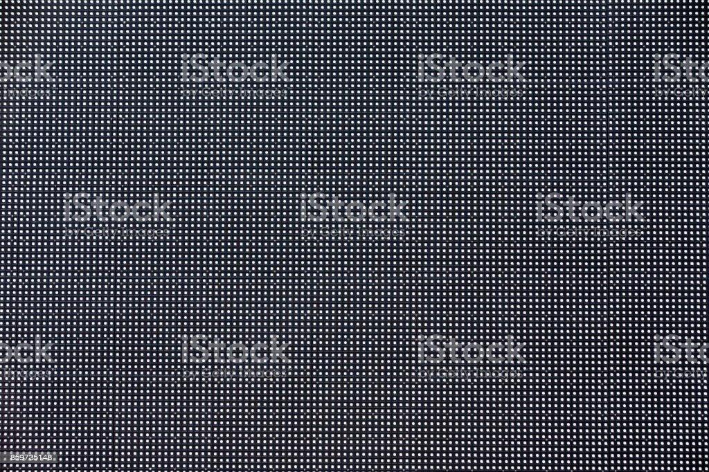 The LED screen in macro mode. stock photo