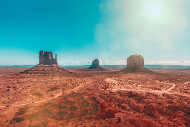 The legendary monuments of Monument Valley stock photo