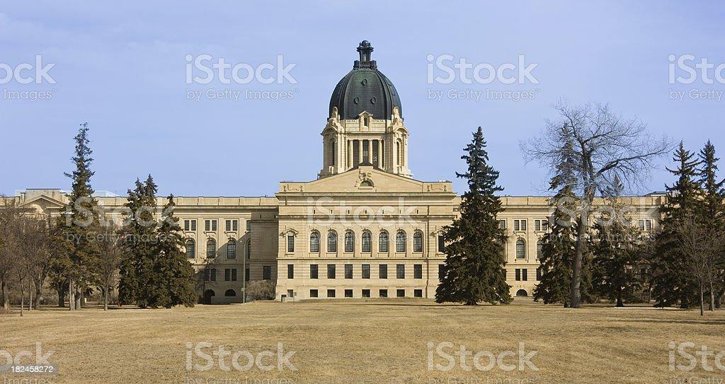 The Legislative Assembly of Saskatchewan in Regina stock photo