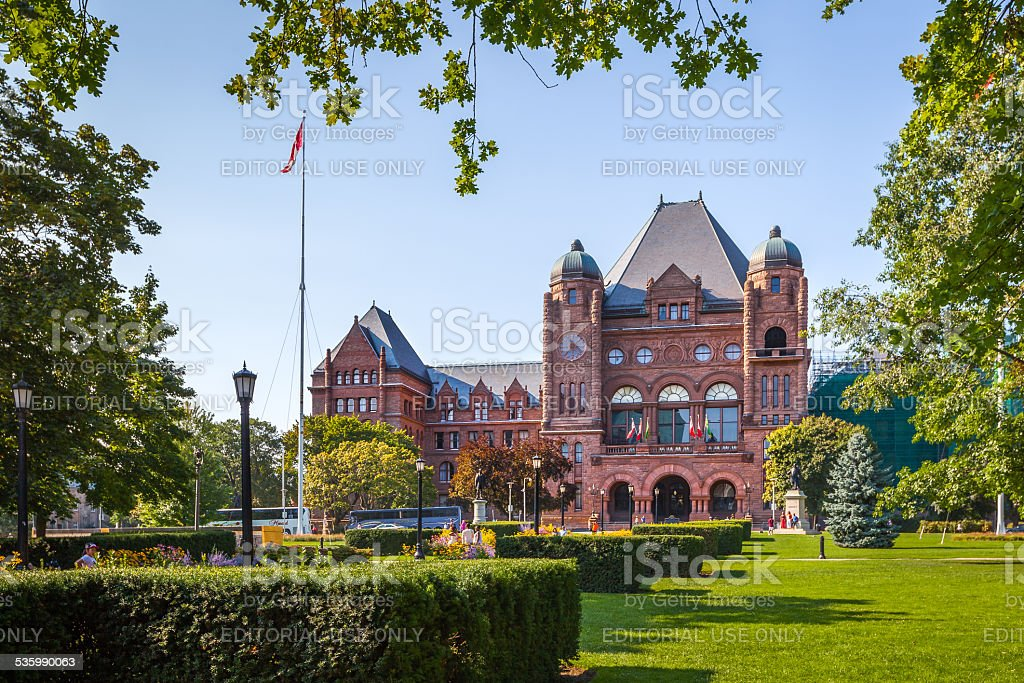 The Legislative Building, Toronto, Canada stock photo