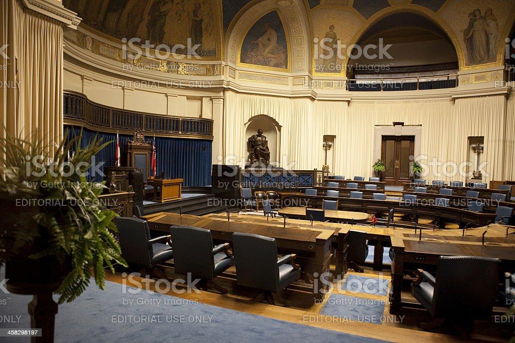The Legislative Chamber of Manitoba Parliment Building stock photo