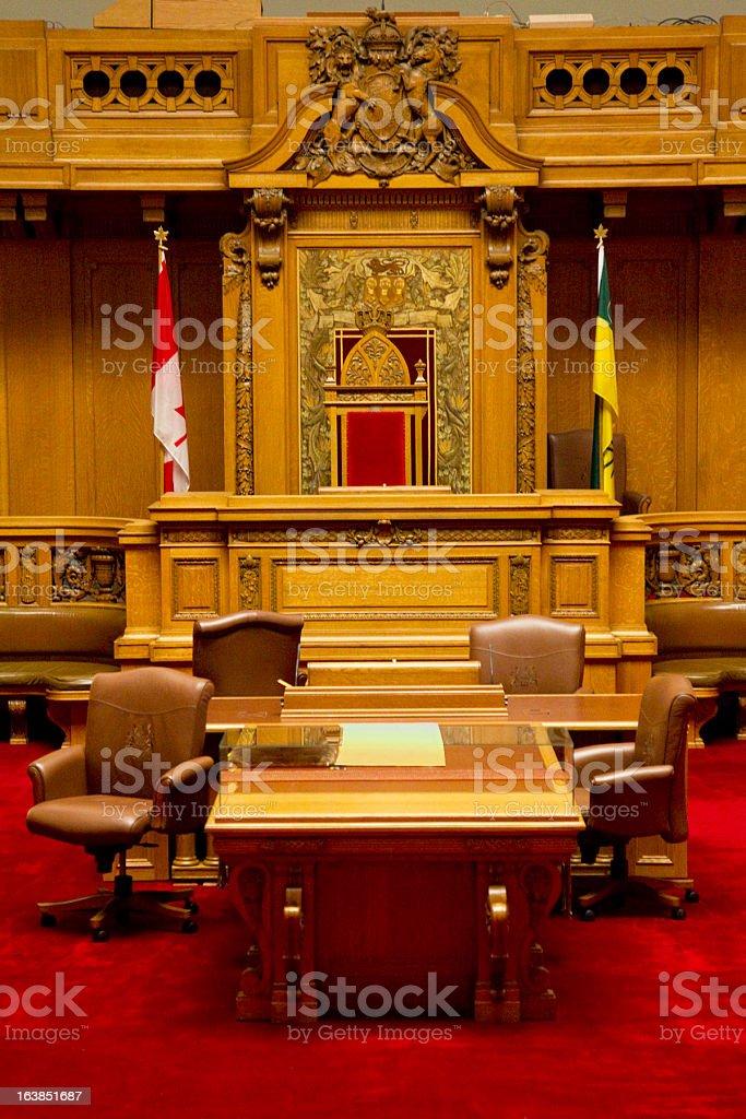 The Legislative Chamber of Saskatchewan Parliment Building stock photo