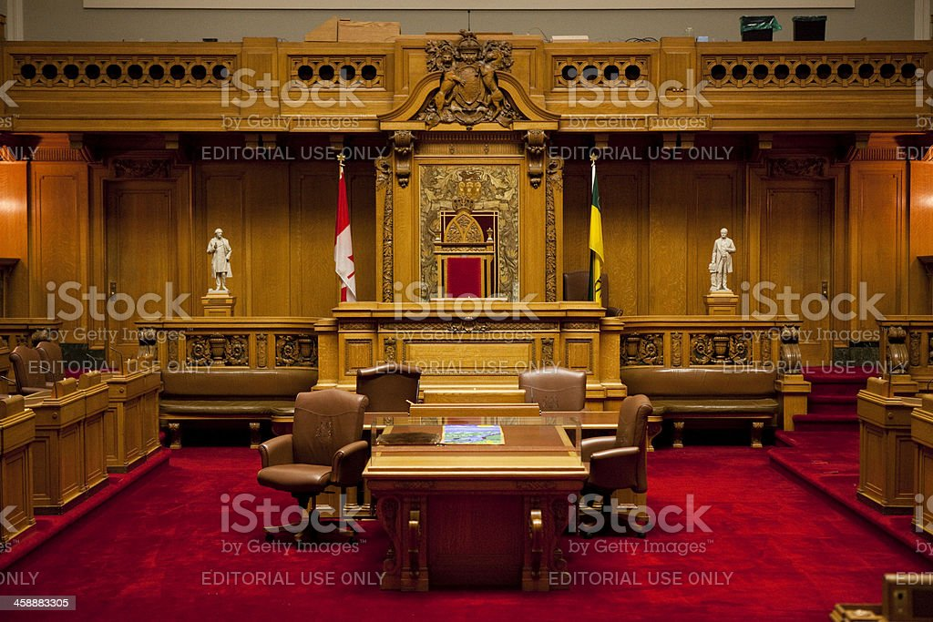 The Legislative Chamber of Saskatchewan Parliment Building royalty-free stock photo