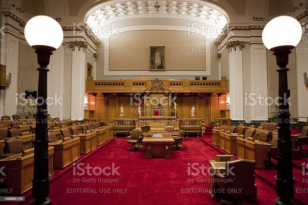 The Legislative Chamber of Saskatchewan Parliment Building royalty-free stock photo