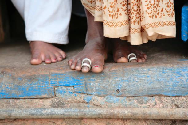 Die Beine einer armen verheirateten Indianerin – Foto