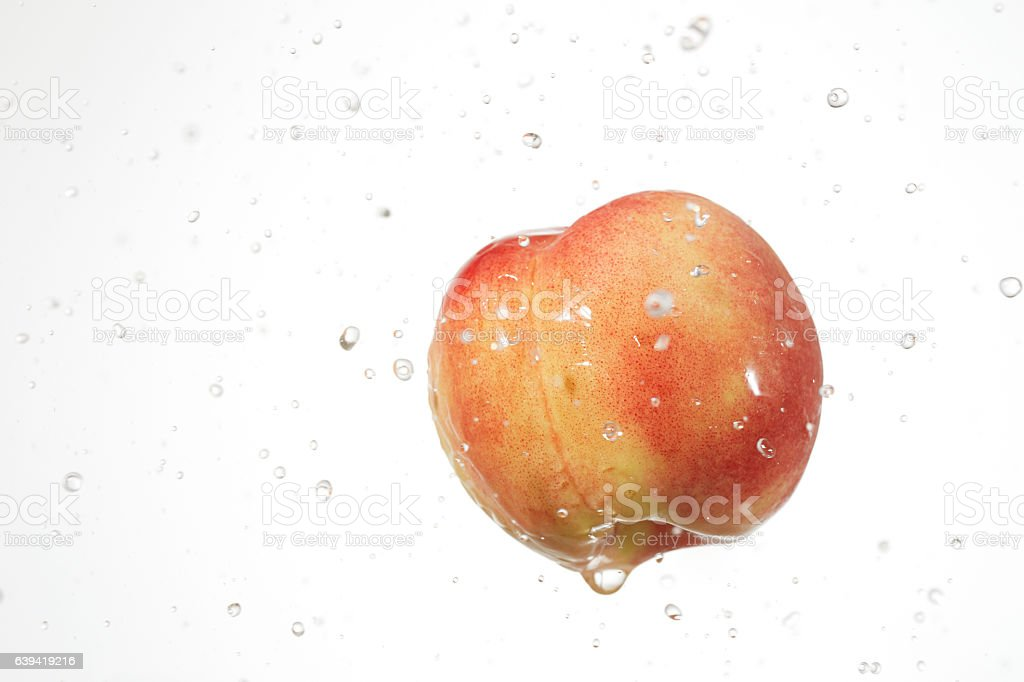 the lemon  with droplets stock photo