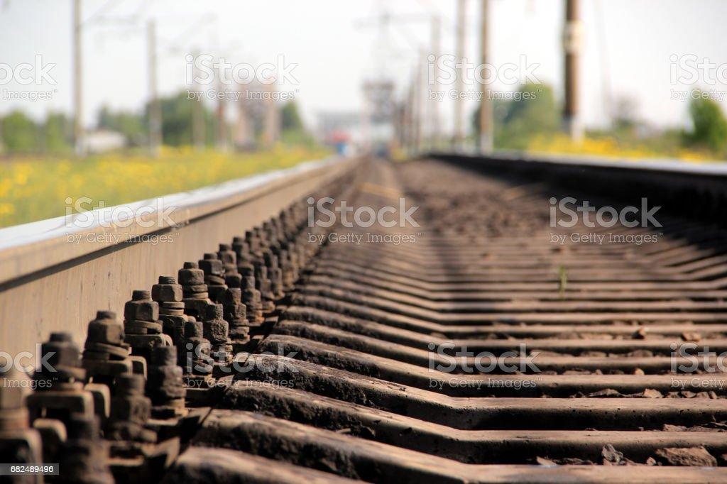 The length of the railway track Стоковые фото Стоковая фотография