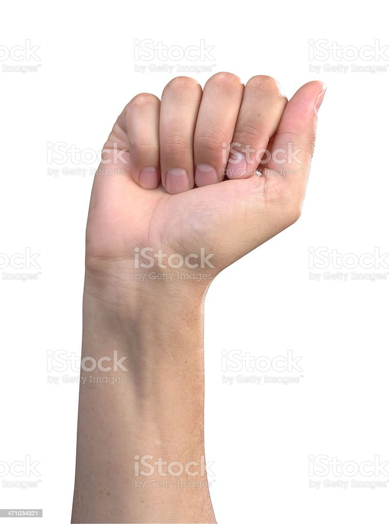 The Letter 'A' in Sign Language royalty-free stock photo