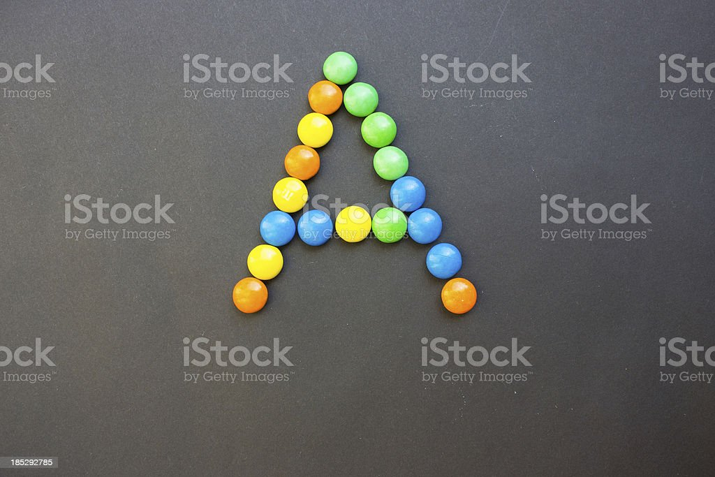 The Letter A stock photo