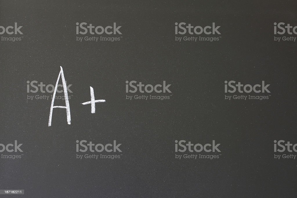 the letter A plus sign royalty-free stock photo