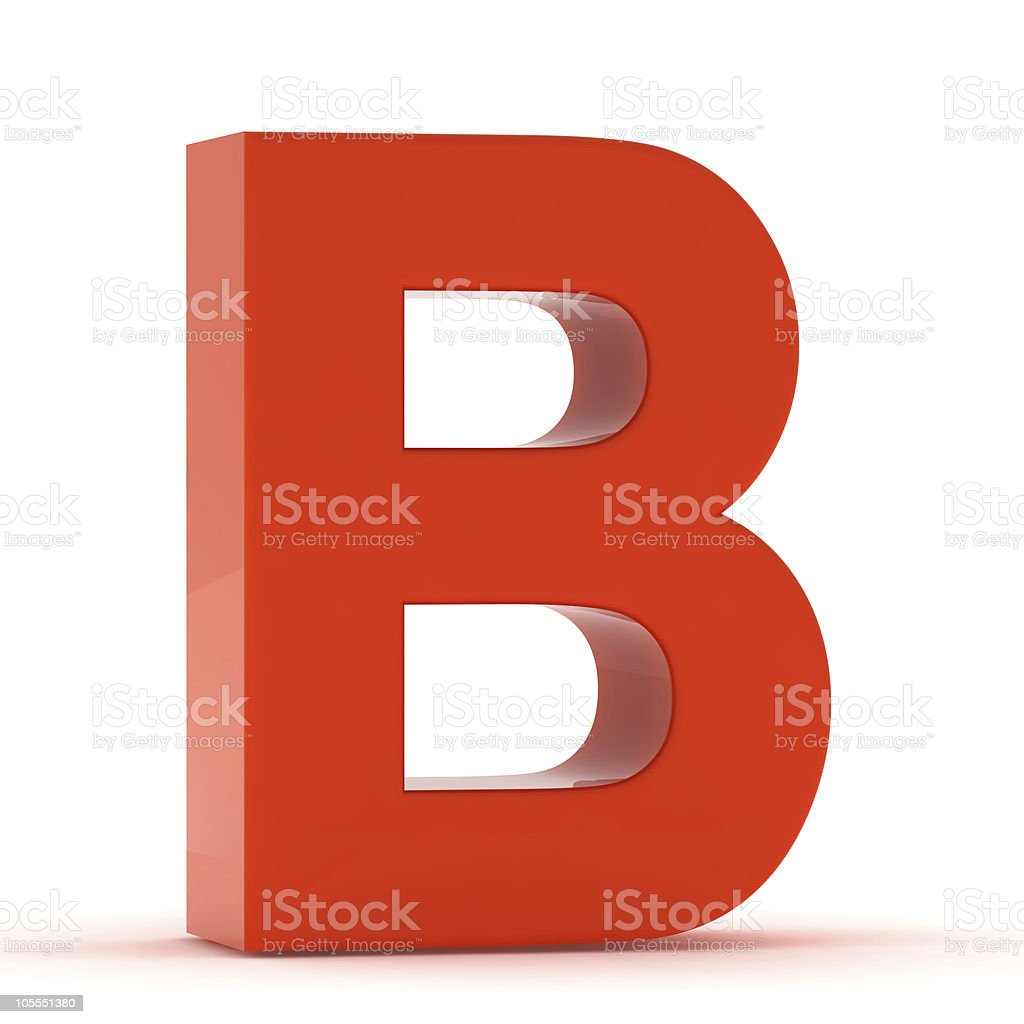 The Letter B - Red Plastic stock photo