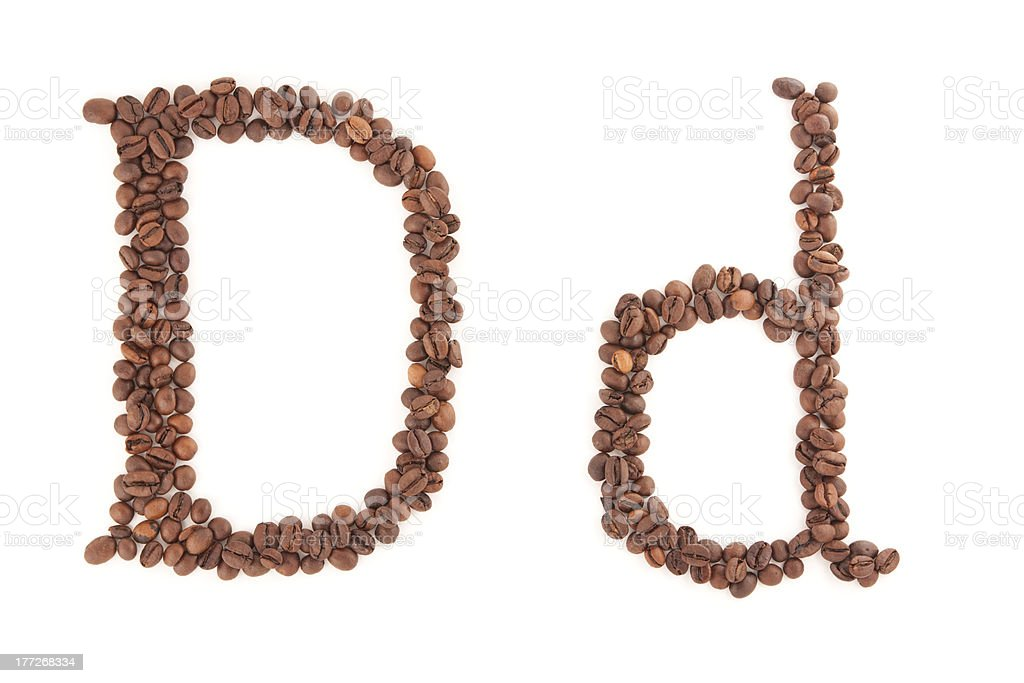 The letter D royalty-free stock photo