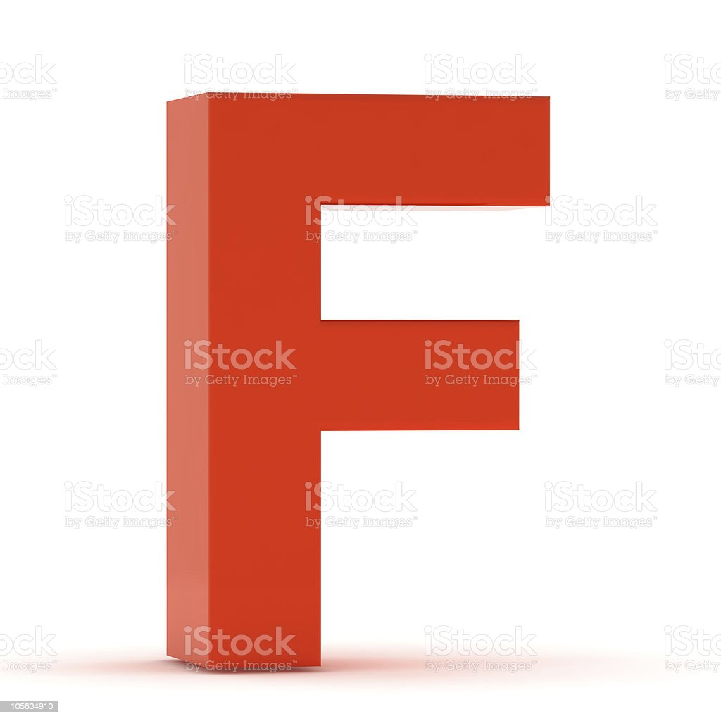 The Letter F - Red Plastic royalty-free stock photo