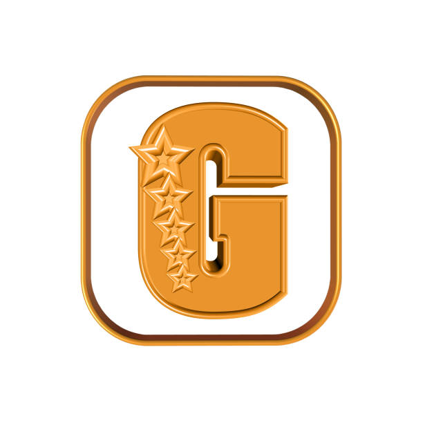 The Letter G and five stars stock photo