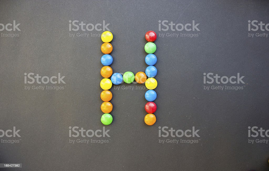 The Letter H stock photo