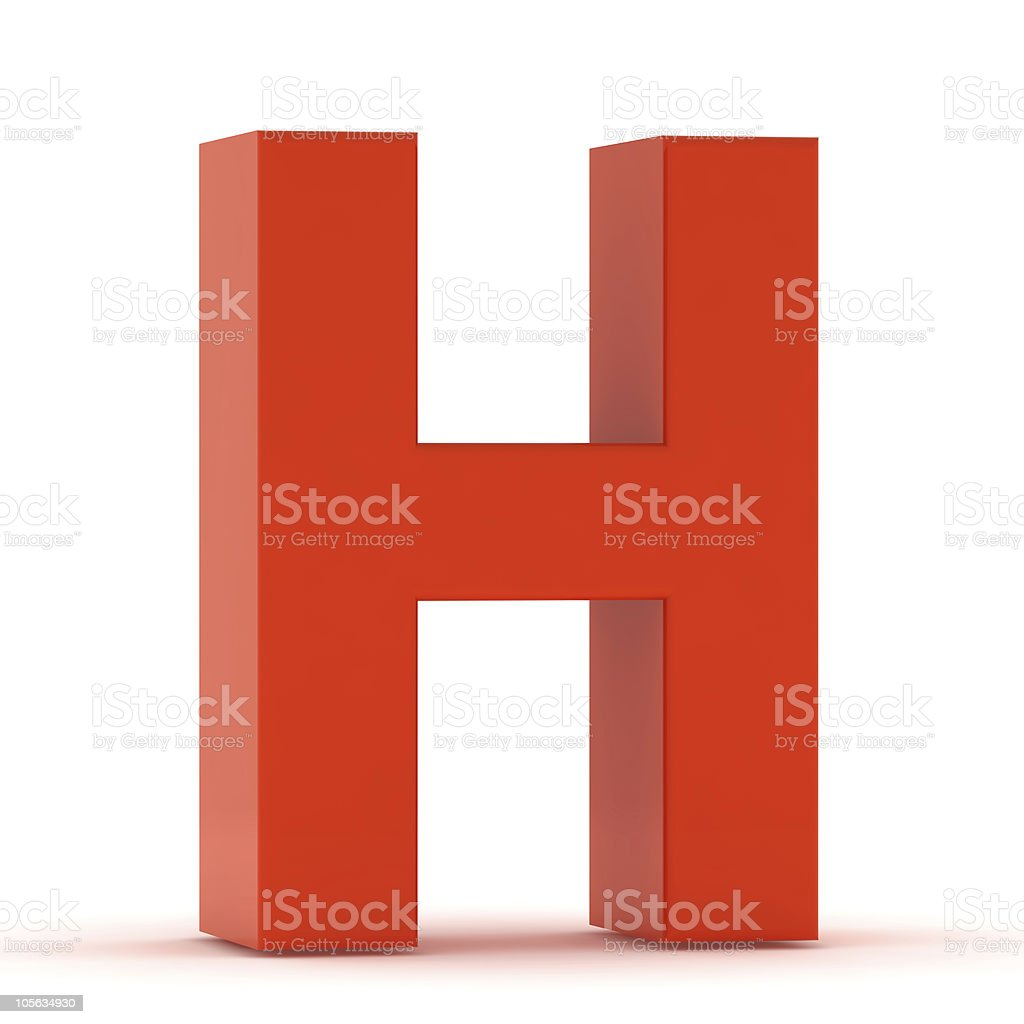 The Letter H - Red Plastic royalty-free stock photo