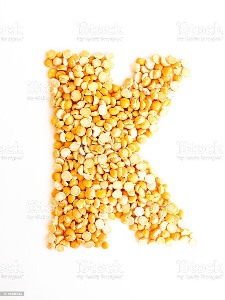 The Letter K. stock photo