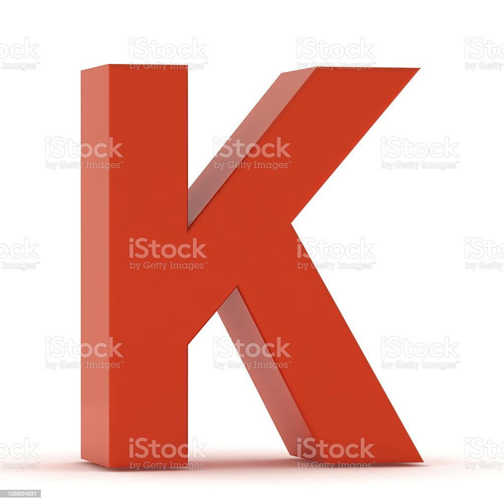 The Letter K - Red Plastic stock photo