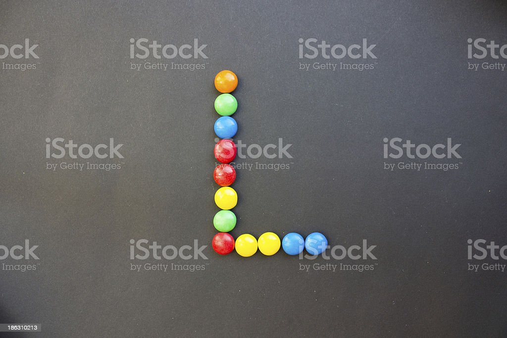 The Letter L stock photo