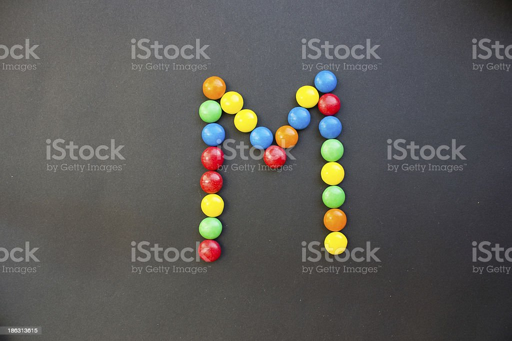 The Letter M stock photo