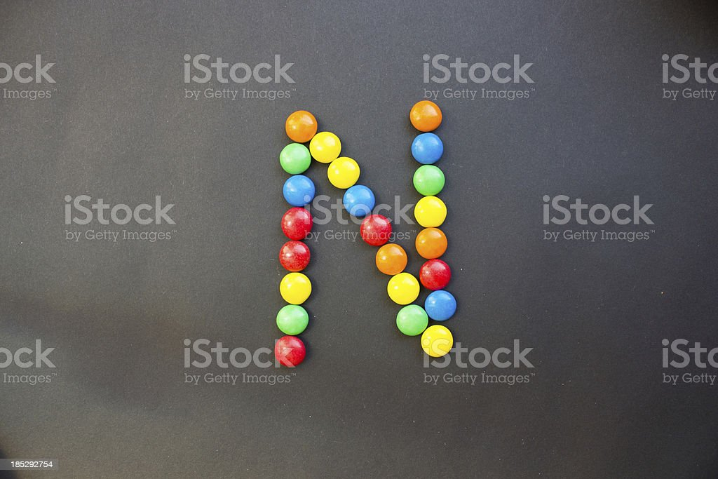 The Letter N stock photo