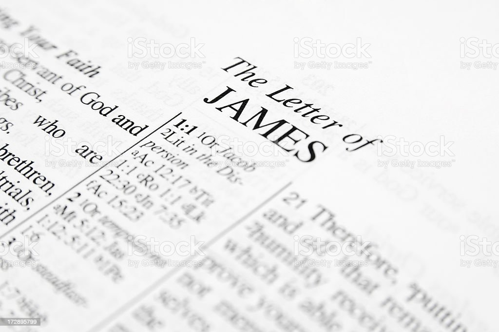The Letter of James stock photo