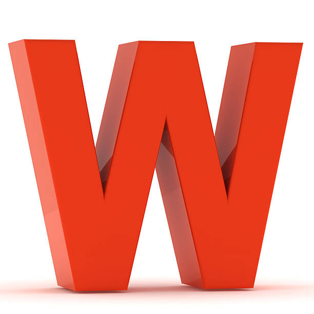 The Letter W - Red Plastic The letter W - red plastic. letter w stock pictures, royalty-free photos & images