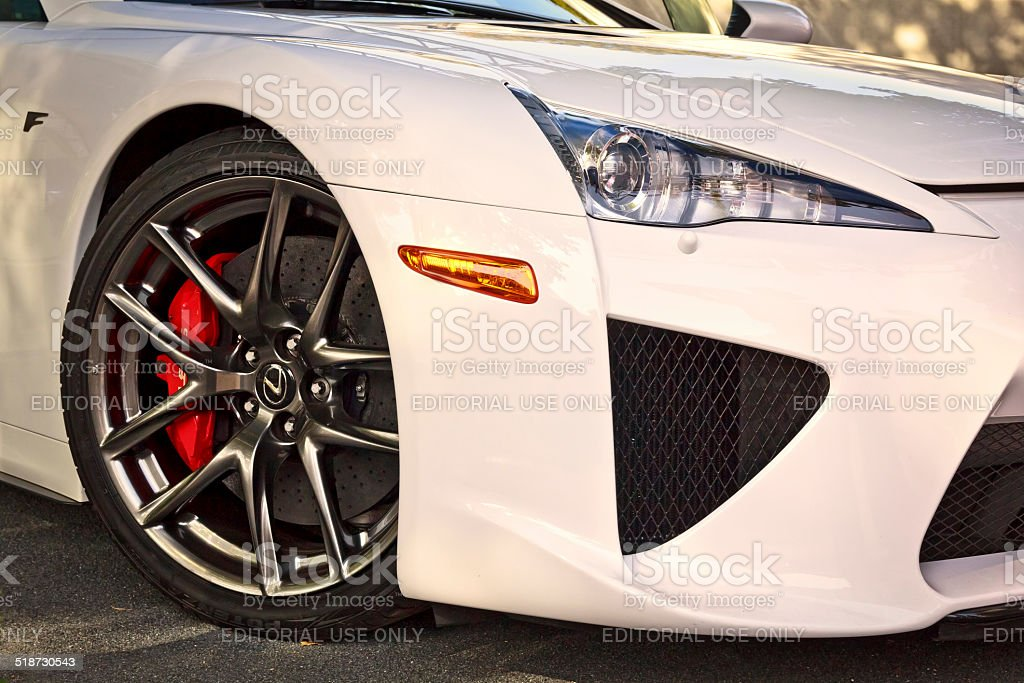 The Lexus LFA sport car stock photo