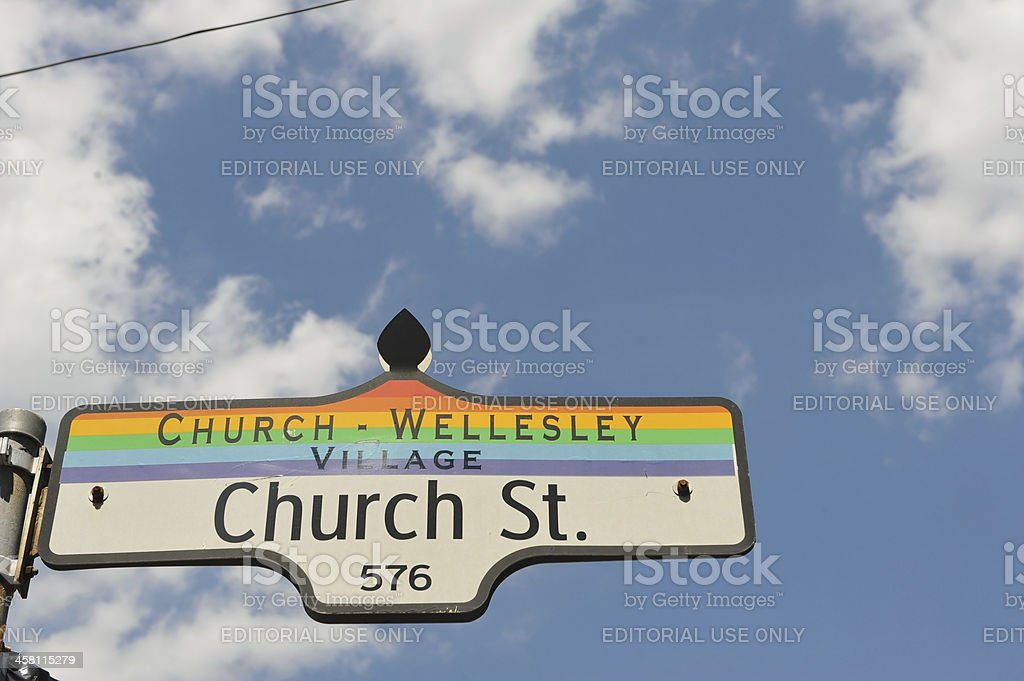 The LGBT oriented area of Toronto stock photo