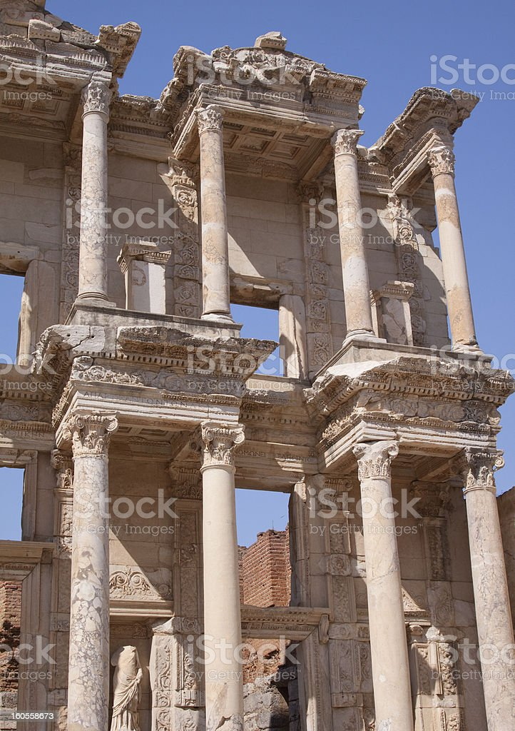 The Library At Ephesus royalty-free stock photo