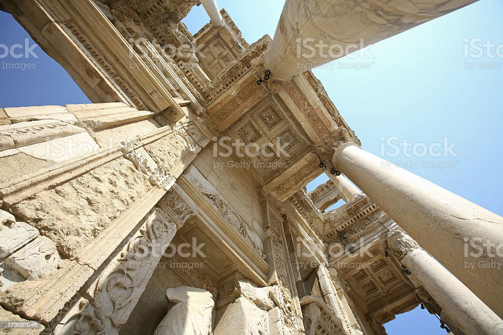 The Library of Celsus, Ephesus royalty-free stock photo