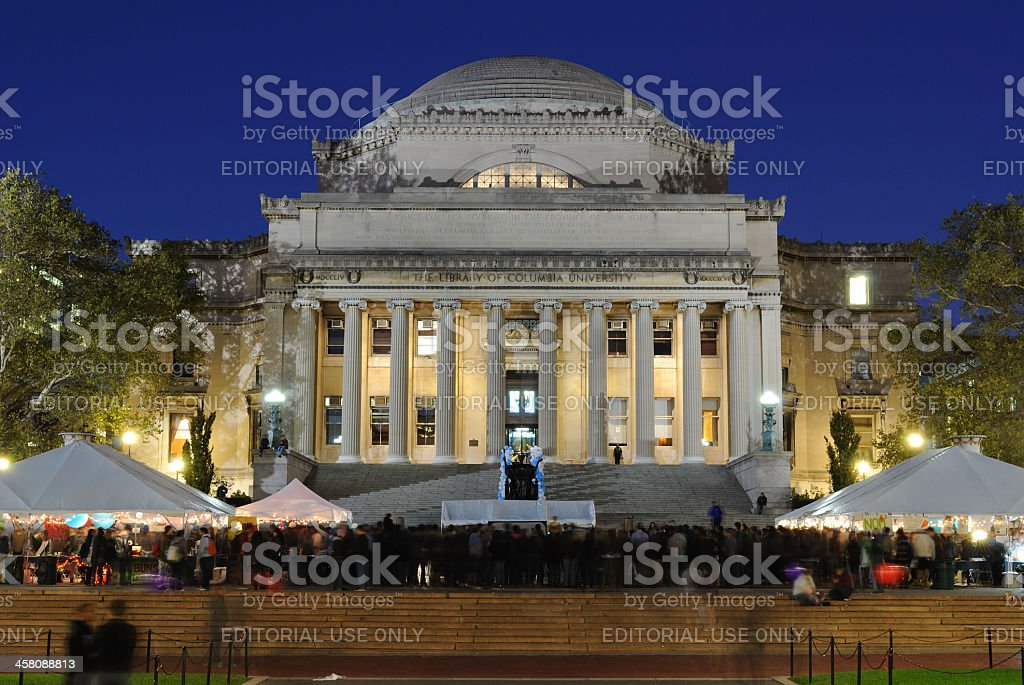 The Library of Columbia University royalty-free stock photo