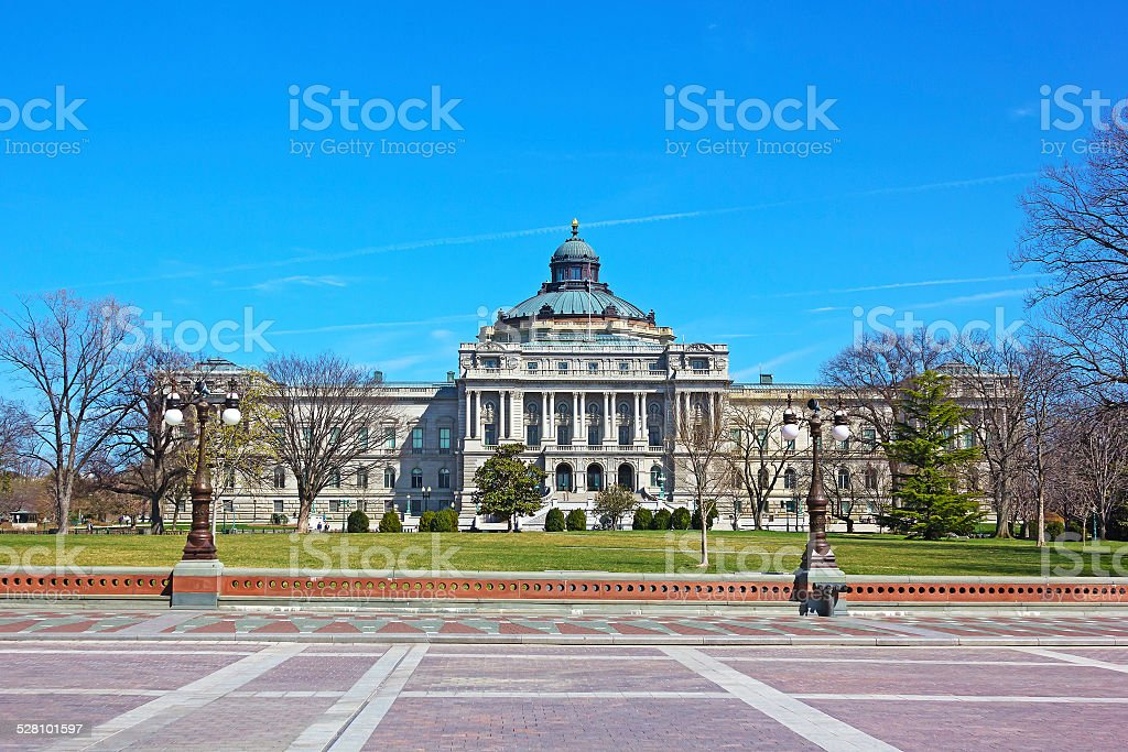 The Library of Congress, Thomas Jefferson Building, Washington DC. stock photo