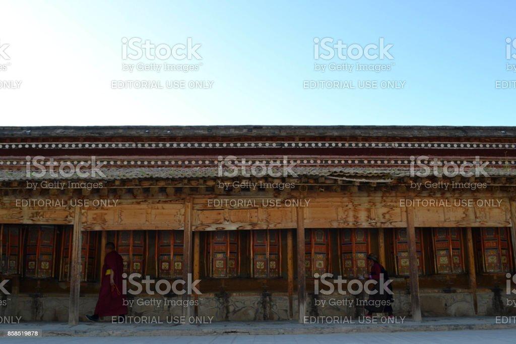 The life around Labrang in Xiahe, Amdo Tibet stock photo