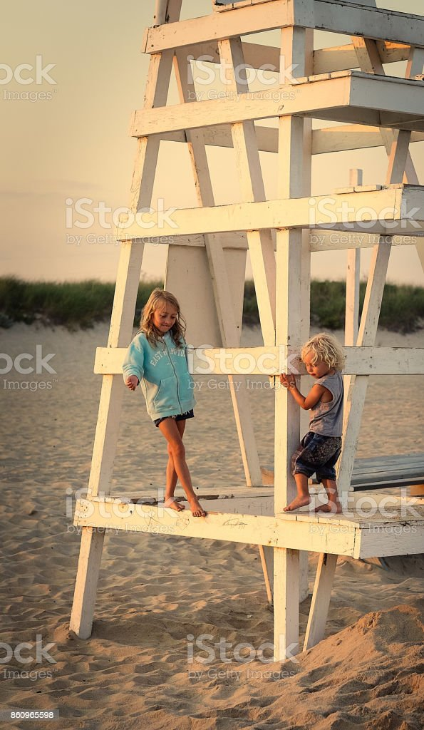 The Lifeguard Stand stock photo